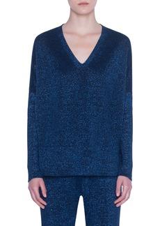 Akris punto Metallic Wool Sweater