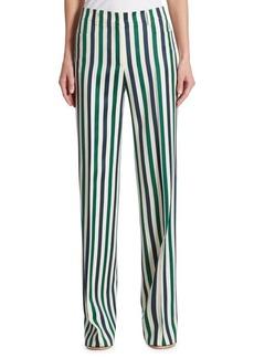 Akris punto Mika Striped Wool Wide-Leg Pants