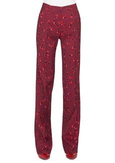 Akris punto Mikka Floral-Print Straight-Leg Wool Trousers