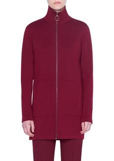 Akris punto Milano Knit Stretch Wool Long Cardigan