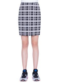 Akris punto Monochromatic Check Jacquard Miniskirt