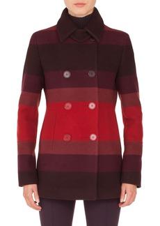Akris punto Multicolor Stripe Double Breasted Jacket