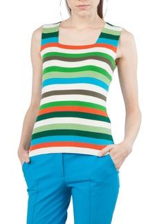 Akris punto Multicolor Stripe Knit Tank