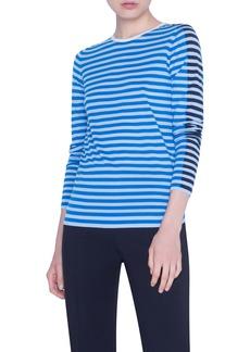Akris punto Multicolor Stripe Merino Wool Sweater