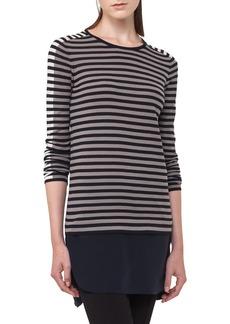 Akris punto Multicolor Stripe Wool Pullover
