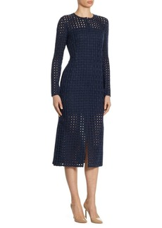 Akris Net-Embroidered Dress