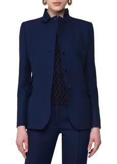 Akris punto Notch-Collar Wool Blazer