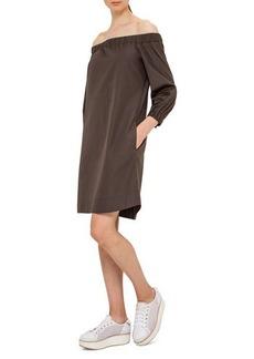 Akris punto Off-the-Shoulder Cotton Shift Dress