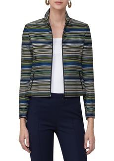 Akris punto Paracas Stripe Crop Jacket