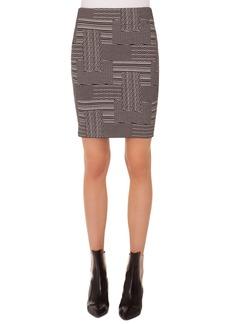 Akris punto Patchwork Jacquard Miniskirt