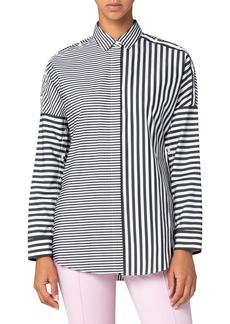 Akris punto Patchwork Organic Cotton Poplin Shirt