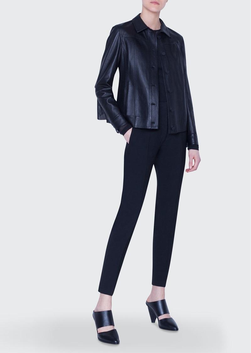 Akris punto Perforated Leather Jacket