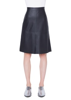 Akris punto Perforated Leather Skirt