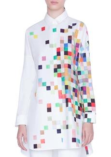 Akris punto Pixel Print Tunic Shirt