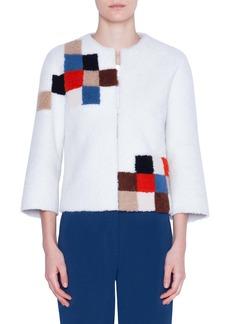 Akris punto Pixel Reversible Genuine Shearling Jacket