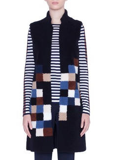Akris punto Pixel Reversible Genuine Shearling Vest