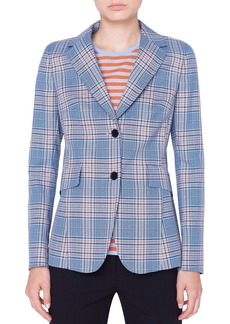 Akris punto Plaid Two-Button Blazer Jacket