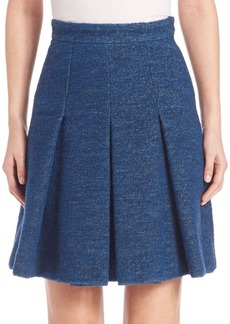 Akris punto Pleated Boucle Skirt