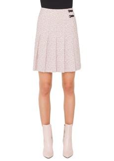 Akris punto Pleated Tweed Skirt