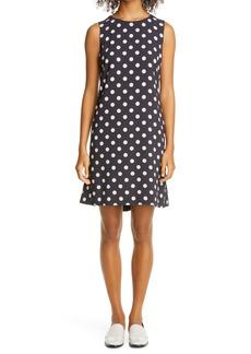 Akris punto Polka Dot A-Line Dress