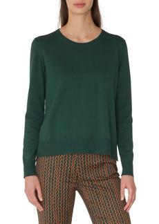Akris punto Poplin Back Cotton Sweater