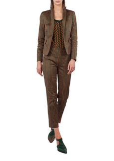 Akris punto Print Stretch Cotton Blazer