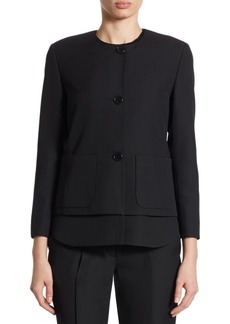 Akris punto Removable Hem Wool Jacket