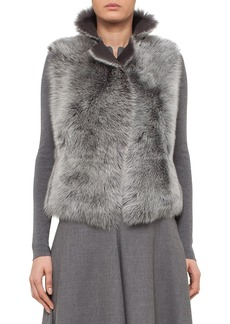 Akris punto Reversible Genuine Toscana Shearling Vest