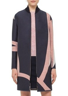 Akris punto Reversible Jacquard Long Coat