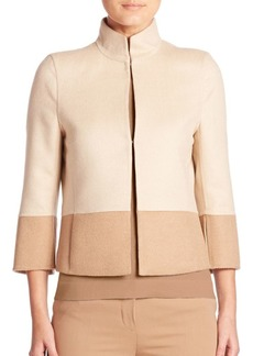 Akris punto Reversible Two-Tone Cropped Jacket