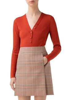 Akris punto Rib Merino Wool Henley Sweater