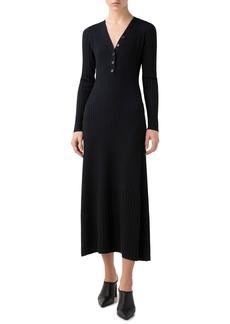 Akris punto Rib Merino Wool Long Sleeve Dress