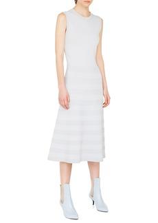 Akris punto Rib Stripe Midi Dress
