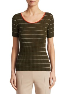 Akris Punto Ribbed Knit Striped Pullover