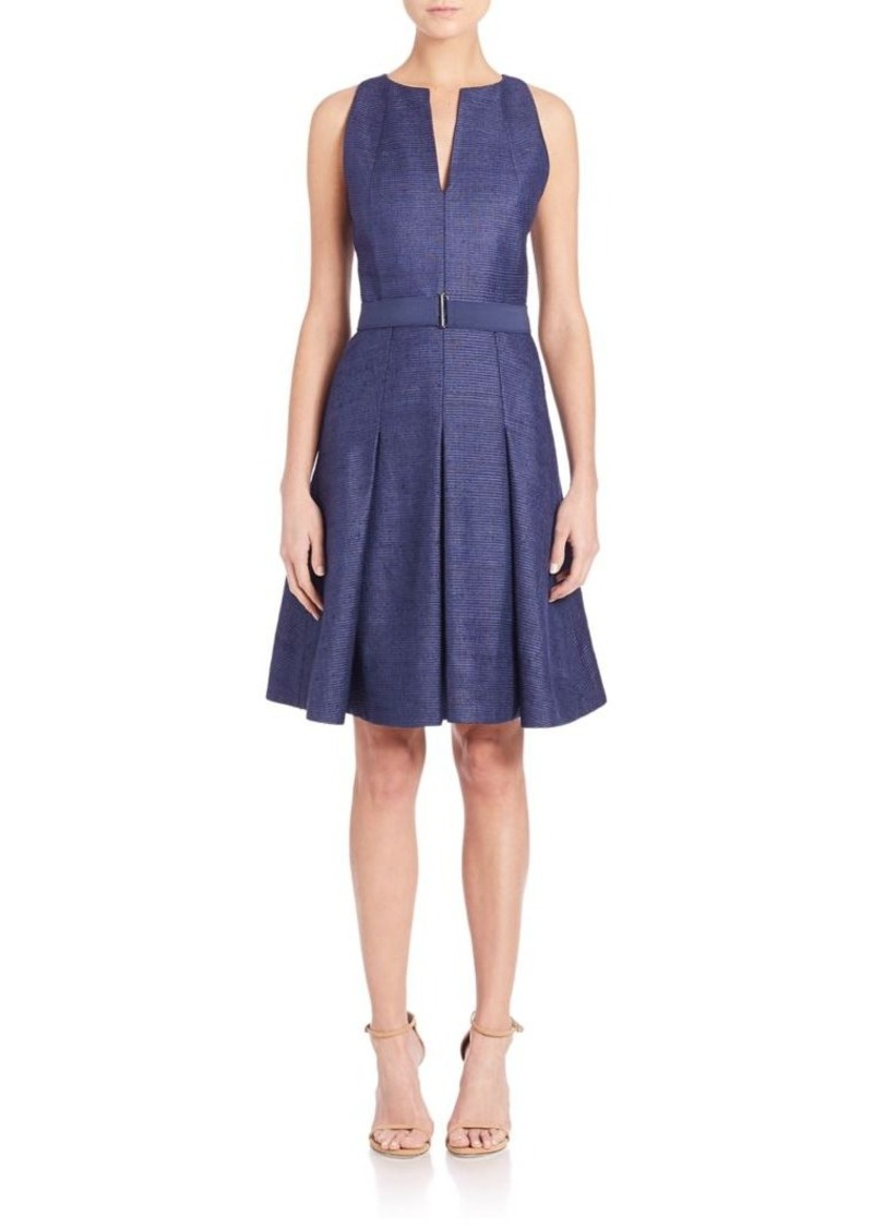 Akris punto Ribbed Silk A-Line Dress