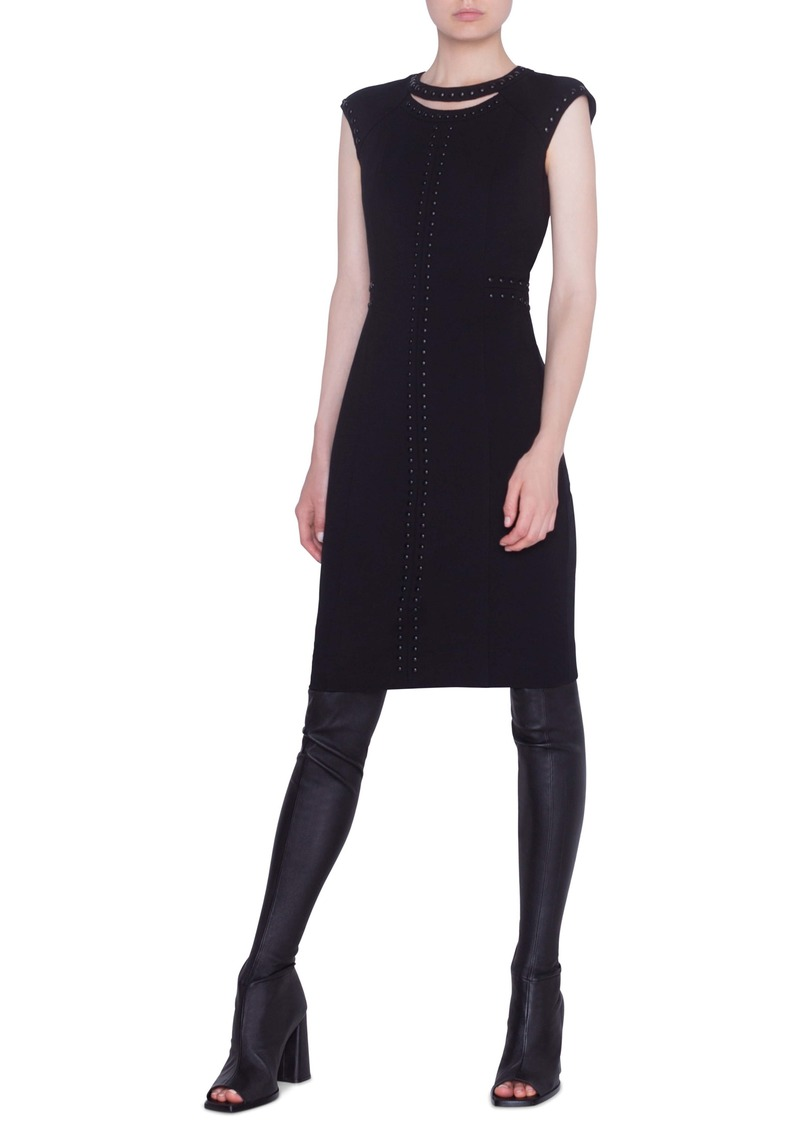 Akris punto Rivet Detail Luna Cutout Sheath Dress
