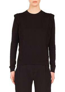 Akris punto Ruffle Detail Wool Sweater