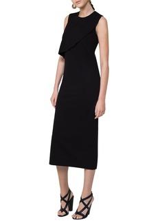 Akris punto Ruffle Jersey Midi Dress