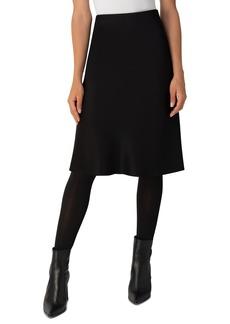 Akris punto Satin A-Line Skirt