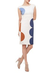 Akris punto Scoop-Back Circle-Print Dress