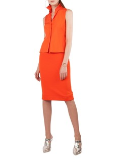 Akris punto Shirtdress with Sleeveless Cotton Top and Stretch Pencil Skirt