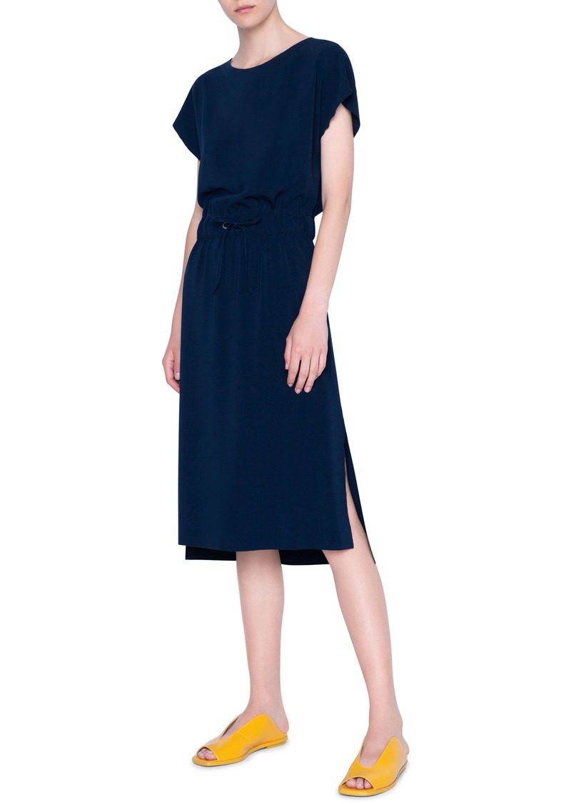 Akris punto Short Sleeve Blouson Dress