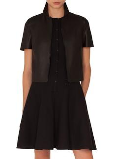 Akris punto Short Sleeve Leather Jacket