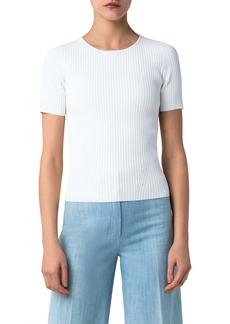 Akris punto Short Sleeve Rib Sweater