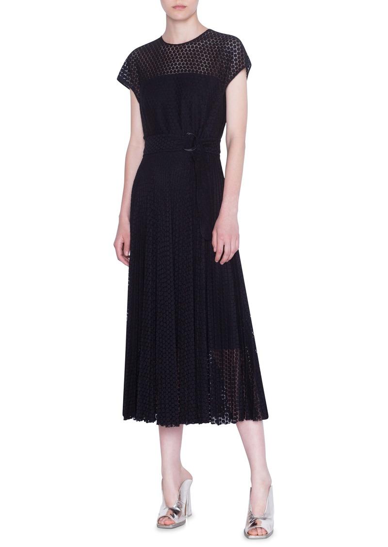 Akris punto Signature Punto Lace Midi Dress