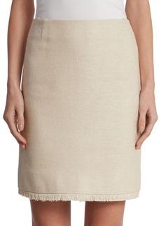 Akris punto Silk Fringe Skirt