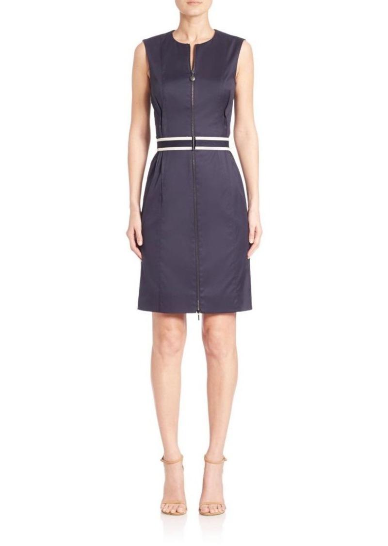 Akris punto Sleeveless Stretch-Cotton Zip Dress