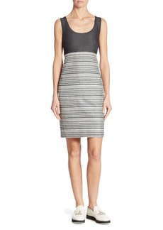 Akris Sleeveless Striped Dress