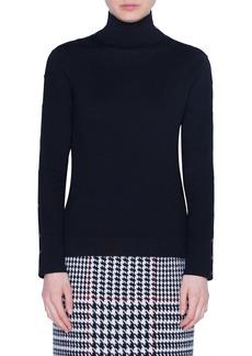 Akris punto Snap Sleeve Wool Sweater