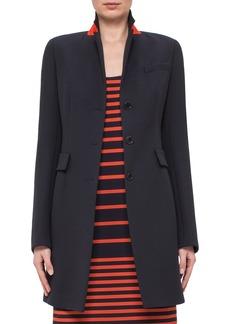 Akris punto Stand Collar Wool Jacket